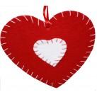 Corazón fieltro 13 cm
